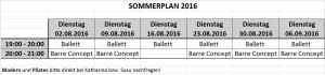 Sommerplan 2016